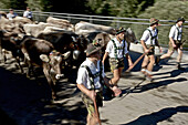 Men wearing traditional clothes, Viehscheid, Allgau, Bavaria, Germany