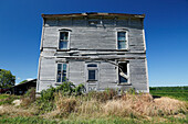 Ruins of an abandoned farm, Province Quebec, Canada