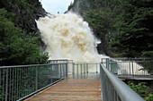 Ouiatchuan Falls, Val Jalbert, Provinzce Quebec, Canada