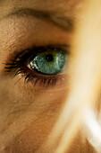 Woman's eye, close-up