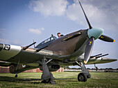 Hawker Hurricane, Goodwood Revival 2014, Racing Sport, Classic Car, Goodwood, Chichester, Sussex, England, Great Britain