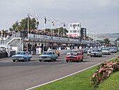 Start Shelby Cup, Goodwood Revival 2014, Racing Sport, Classic Car, Goodwood, Chichester, Sussex, England, Great Britain