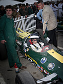 1965 Lotus Ford 38, winner of Indianapolis 500 in 1965, driver Dario Franchitti, Goodwood Revival, racing, car racing, classic car, Chichester, Sussex, United Kingdom, Great Britain