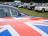 Parking area, Goodwood Revival, racing, car racing, classic car, Chichester, Sussex, United Kingdom, Great Britain