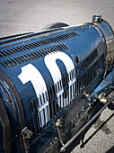 Bugatti engine bonnet, Grover-Williams Trophy, 72nd Members Meeting, racing, car racing, classic car, Chichester, Sussex, United Kingdom, Great Britain