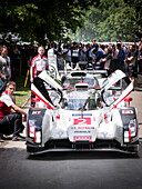 Andre Lotterer, Le Mans winner 2014, Audi R18 E-Tron Quattro Hybrid, Goodwood Festival of Speed 2014, racing, car racing, classic car, Chichester, Sussex, United Kingdom, Great Britain