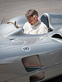 Bernd Schneider, DTM record winner, Mercedes W196 Stromlinie, Goodwood Festival of Speed 2014, racing, car racing, classic car, Chichester, Sussex, United Kingdom, Great Britain