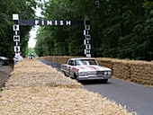 1963 Chefrolet Impala at the finishing line, Goodwood Festival of Speed 2014, racing, car racing, classic car, Chichester, Sussex, United Kingdom, Great Britain
