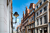 Traditional houses, Hanseatic City, Luebeck, Schleswig-Holstein, Germany