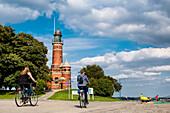 Holtenau lighthouse, Kiel, Baltic Coast, Schleswig-Holstein, Germany