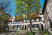 Courtyard at Fuechtingshof, Hanseatic City, Luebeck, Schleswig-Holstein, Germany