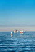 View towards the sea, Luebeck, Travemuende, Baltic Coast, Schleswig-Holstein, Germany