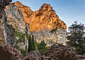 chapel Notre-Dame-de-Beauvoir, Moustiers-Sainte-Marie, village, Verdon natural park, Alpes-de-Haute-Provence, Provence, France, Europe