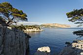 Calanque Port-Miou and  bay of Cassis, Baie de Cassis, Cap de Aigle, cape, Bouches-du-Rhone, Cote d Azur, French Riviera, Mediterranean Sea, Provence, France, Europe, Provence, France, Europe