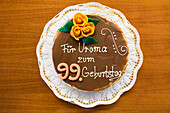 birthday cake, 99th birthday, Germany