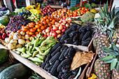 vegetables in a supermarket in Lima, Peru, South America