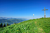 Siplingerkopf with view to the south to Allgaeu Alps, Siplingerkopf, valley of Balderschwang, Allgaeu Alps, Allgaeu, Svabia, Bavaria, Germany