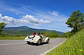 BMW 328 1939 on a road, Oldtimer, Motor Race, Mille Miglia, 1000 Miglia, Radicofani, Tuscany, Italy, Europe