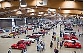 Exhibition in the exhibition halls, Oldtimer, Rennwagen, Autorennen, Mille Miglia, 1000 Miglia, 1000 Meilen, Brescia, Lombardy, Italy