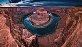 Rock formation in Horseshoe Bend canyon, Page, Arizona, United States, Page, Arizona, USA