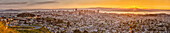 Panoramic view of San Francisco cityscape, California, United States, San Francisco, California, USA