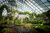 Ornate garden in greenhouse, Singapore, Republic of Singapore, Republic of Singapore
