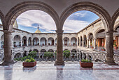Arches and courtyard of Governor's Palace, Guadalajara, Jalisco, Mexico, Guadalajara, Jalisco, Mexico