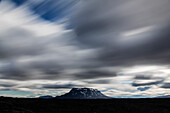 Blurred view of clouds over Mt Herdubried, Iceland, Mt Herdubreid, Iceland, Iceland