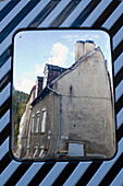 France, Central France, Aubusson, traffic mirror