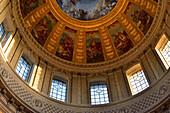France, Paris, interior of the Dôme des Invalides, paintings and frescos