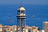 Spain, Catalonia, Barcelona, Montjuic cable car..