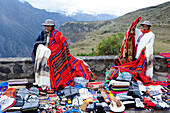 Women selling had-made textiles and crafts in Canyon de Colca , Peru,South America