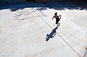 Cuban woman running