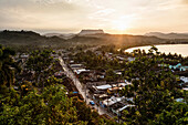 Aerial view of coastal town, Baracoa, Guantanamo, Cuba