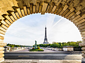 Eiffel Tower from arch, Paris, France