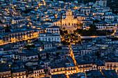 Duomo di San Pietro at dusk, Modica, Sicily, Italy