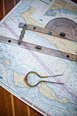 Nautical Chart with Tools