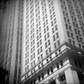 Blurred Building, Low Angle View, New York City, USA