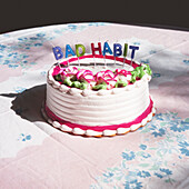 Decorated Cake with BAD HABIT Candles