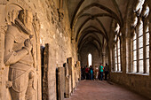 Walkenried abbey, cloister, gothic, graves, Lower Saxony, Germany
