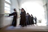 nunnery, nuns in black, Germany