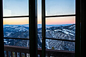 View from a fire lookout tower in Montana.