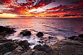 Kaunolu Coast at Sunset, Lana`i, Hawai`i