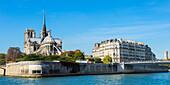Notre-Dame Cathedral and Ile de la Cite, Paris, France, Europe