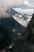 Low cloud in the Potaro River Gorge, Guyana, South America