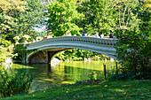 Bow Bridge over The Lake, Central Park, Manhattan, New York City, New York, United States of America, North America