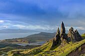 The Old Man of Storr, The Storr, Trotternish, Isle of Skye, Highlands,  Inner Hebrides, Scotland, United Kingdom, Europe