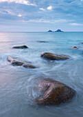 Cornish seascape, Porth Nanven, Cornwall, England, United Kingdom, Europe