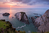 Sunset over the North Devon Coast, Devon, England, United Kingdom, Europe