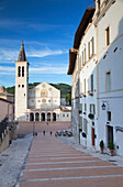 Duomo (Cathedral) in Piazza del Duomo, Spoleto, Umbria, Italy, Europe